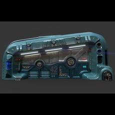 Sci-Fi Door 06 3D Model