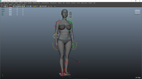 Eof Girl Maya Rig 0.0.1 for Maya