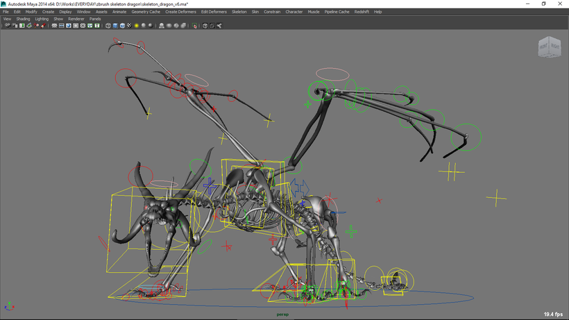 Zbrush Dragon Rig for Maya - Free Character Rigs Downloads
