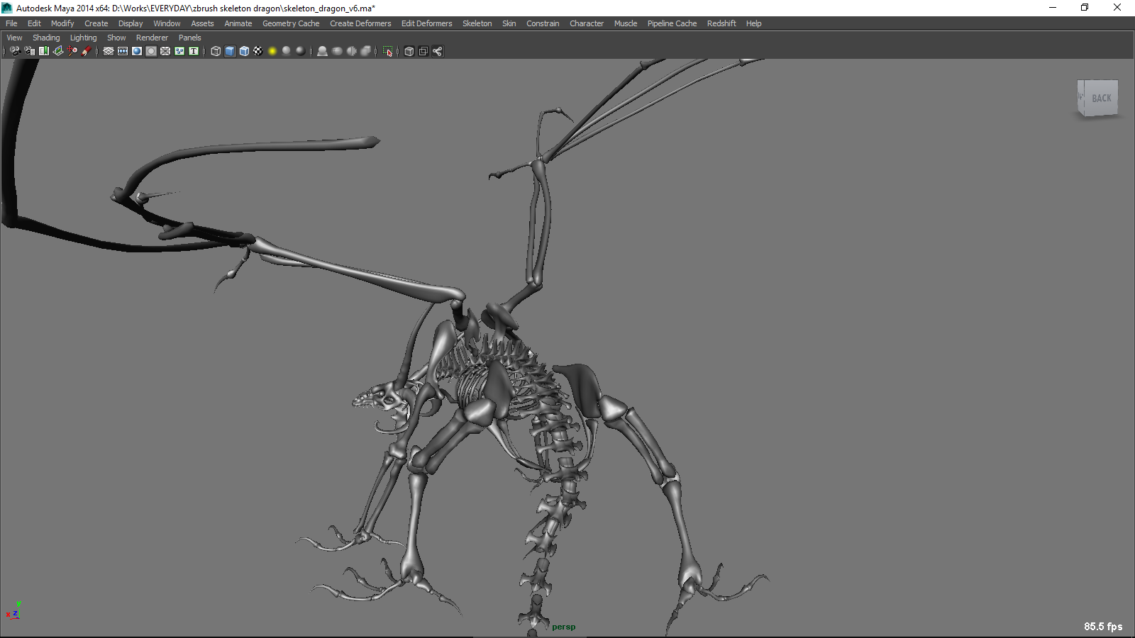 Zbrush Dragon Rig for Maya - Free Character Rigs Downloads for Maya