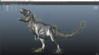 Trex dinosaur mechanic rig 0.0.1 for Maya