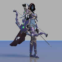 Sylvanas Windrunner Maya rig 0.0.1 for Maya