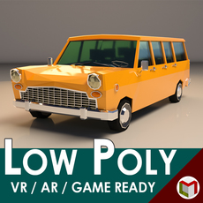 Low Poly Station Wagon 3D Model