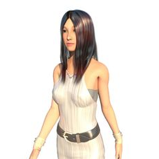 Realistic  East Asia Beauty Girl---Lisse--- 3D Model