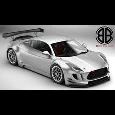 Generic Sports Car GT3 3D Model