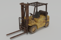 Old Forklift 3D Model