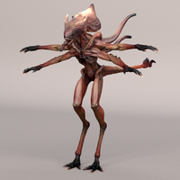 Realistic Rigged Alien 0.0.2 for Maya