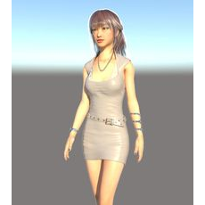 Realistic  East Asia Beauty Girl Saphire 3D Model