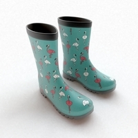 Flamingo Wellies 3D Model