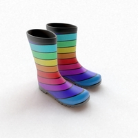 Striped Wellies 3D Model