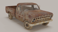 Old Pick Up 3D Model