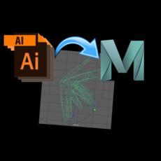 AI Sequence Importer 1.0.0 for Maya (maya script)