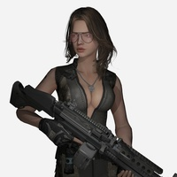 Female Assassin 3D Model