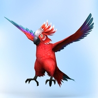 Fantasy Parrot 3D Model