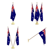 Australia Flag Pack 3D Model