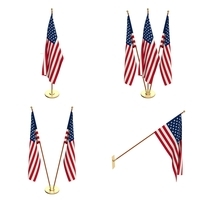 US Flag Pack 3D Model
