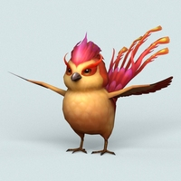 Fantasy Love Bird 3D Model