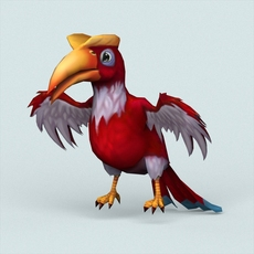 Fantasy Toucan Bird 3D Model