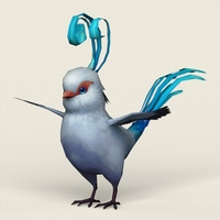 Fantasy Singing Bird 3D Model