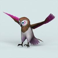 Fantasy Owl 3D Model