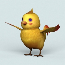 Fantasy Baby Bird 3D Model