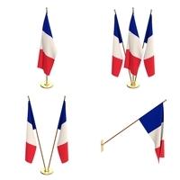 France Flag Pack 3D Model