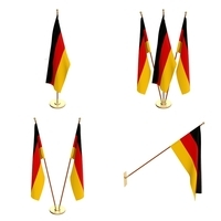 Germany Flag Pack 3D Model
