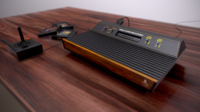 Atari 2600 4-switch - Low-poly, High Quality and detail 3D Model