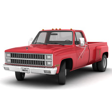 GENERIC DUALLY PICKUP TRUCK 2 3D Model