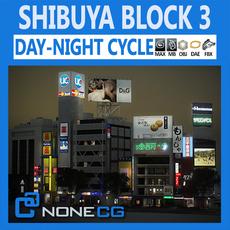 Tokyo Shibuya Block 3 3D Model
