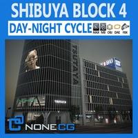 Tokyo Shibuya Block 4 3D Model