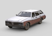 Old generic Car 3D Model