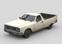 Old Generic Pickup 3D Model