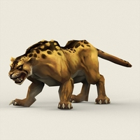 Fantasy Leopard 3D Model