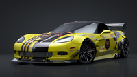 C6R Supervette Race Car Rigged C4D 3D Model