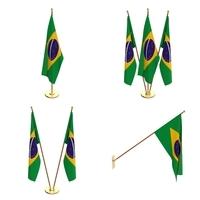 Brazil Flag Pack 3D Model