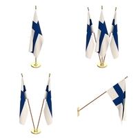 Finland Flag Pack 3D Model