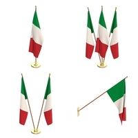 Italy Flag Pack 3D Model