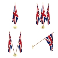 Great Britain Flag Pack 3D Model