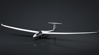 Discus Sailplane Rigged C4D 3D Model