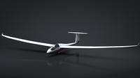 Discus Sailplane Rigged C4D 3D Model