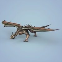 Fantasy Monster Dragon 3D Model