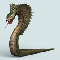 Fantasy Monster Python 3D Model
