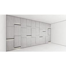 Decorative Light Wall 3D Model