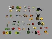 Fruits And Vegetables 3D Model