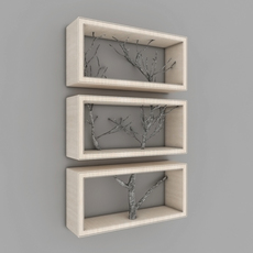 Tree Shelf 3D Model