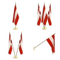 Austria Flag Pack 3D Model