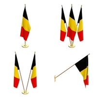 Belgium Flag Pack 3D Model