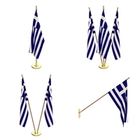 Greece Flag Pack 3D Model