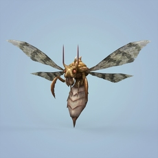 Fantasy Monster Bee 3D Model